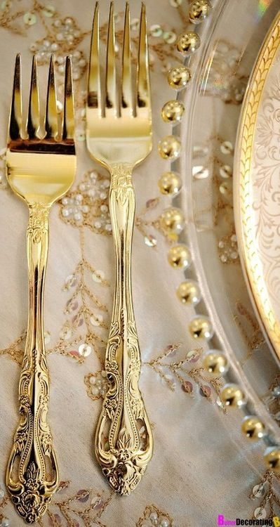 Wedding Gold Cutlery