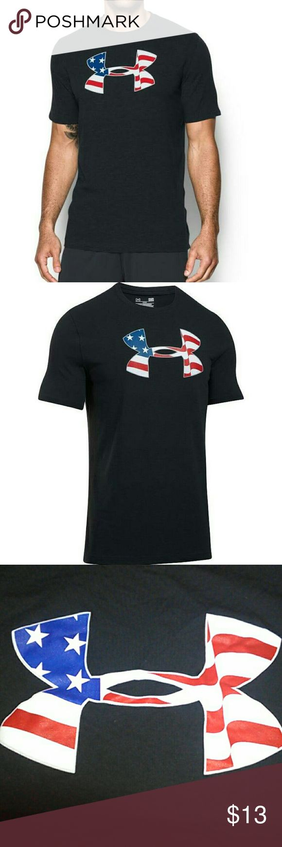Under Armour Americana Pride Tee Make a stand when you wear the Under Armour Men's Americana Pride T-Shirt. Charged Cotton fabric offers the soft feel of cotton while also drying super-fast. Four-way stretch design boosts your mobility, moisture-wicking properties eliminate sweat, and anti-odor technology ensures all-day freshness. An American flag printed UA Big Logo graphic completes the look and shows off your pride. Be unstoppable in the UA Americana Pride T-Shirt. Under Armour Shirts…
