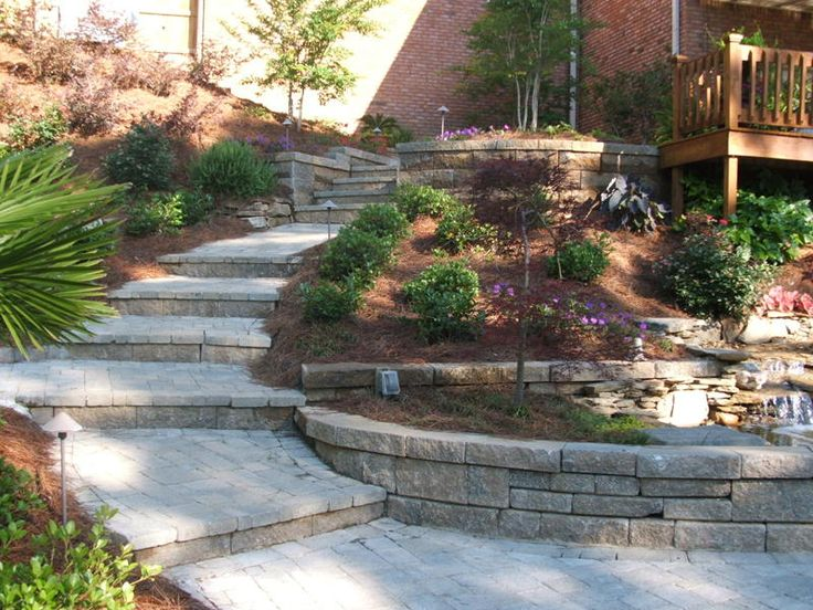 19 best hillside landscaping images on pinterest hill for Sloped driveway options