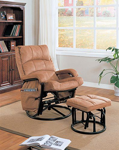 Coaster 650005 Casual Glider Rocker with Matching Ottoman in Brown by Coaster Review https://swivelreclinerchairreview.info/coaster-650005-casual-glider-rocker-with-matching-ottoman-in-brown-by-coaster-review/