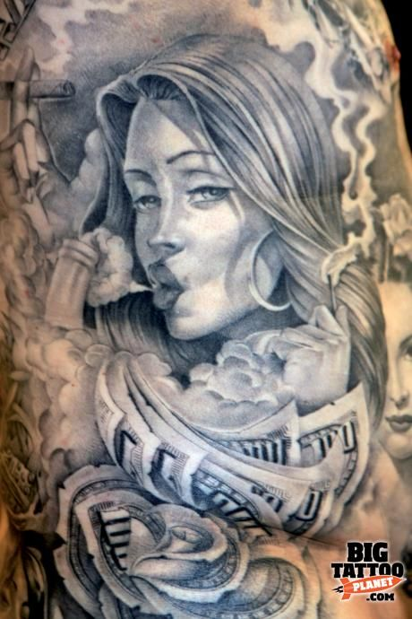 jose lopez tattoo flash | Barcelona Tattoo Expo 2010 - flower Tattoo | Big Tattoo Planet