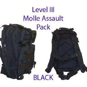 Level III Lv3 Molle Assault Pack Backpack--BLACK $53.99