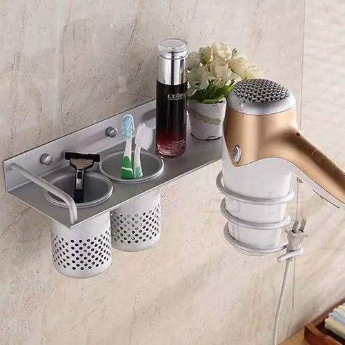 Multifunctionele badkamer föhn houder wandmontage rack ruimte aluminium plank organizer haardroger houder in Kraan type: föhn houderType installatie: muurgemonteerd  Typt u een: Type b:Type c:Type d:Type e:Onze  van badkamer planken op AliExpress.com | Alibaba Groep