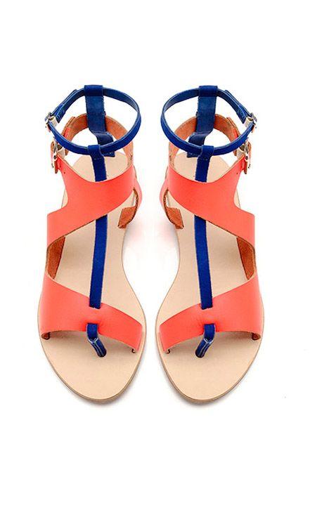 Color block sandals / loeffler randall