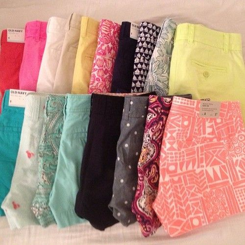 J Crew shorts. I'll take them all please.