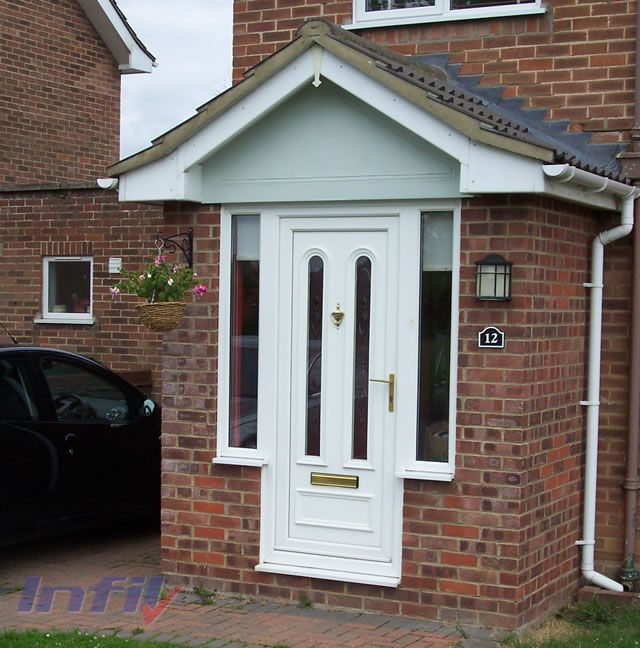 white door porch upvc