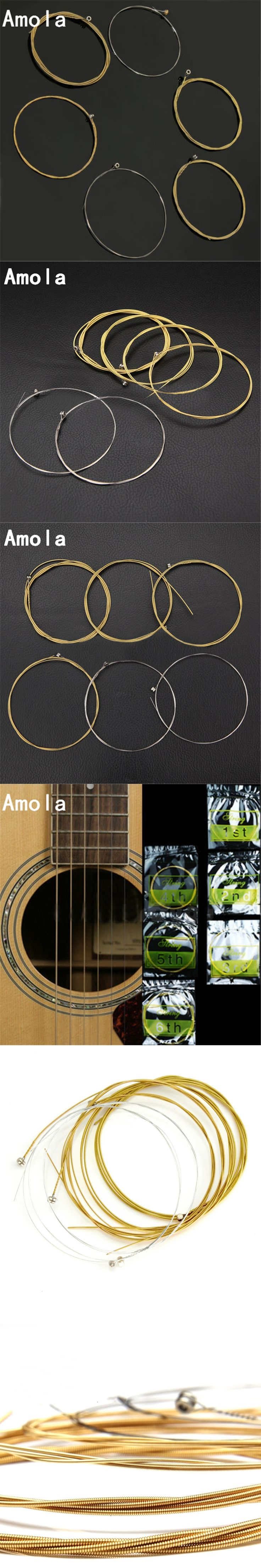 Acoustic Guitar Strings set 010 A60xl Silver Pure Coper Acoustic Wound Guitar Strings For Guitarra Parts