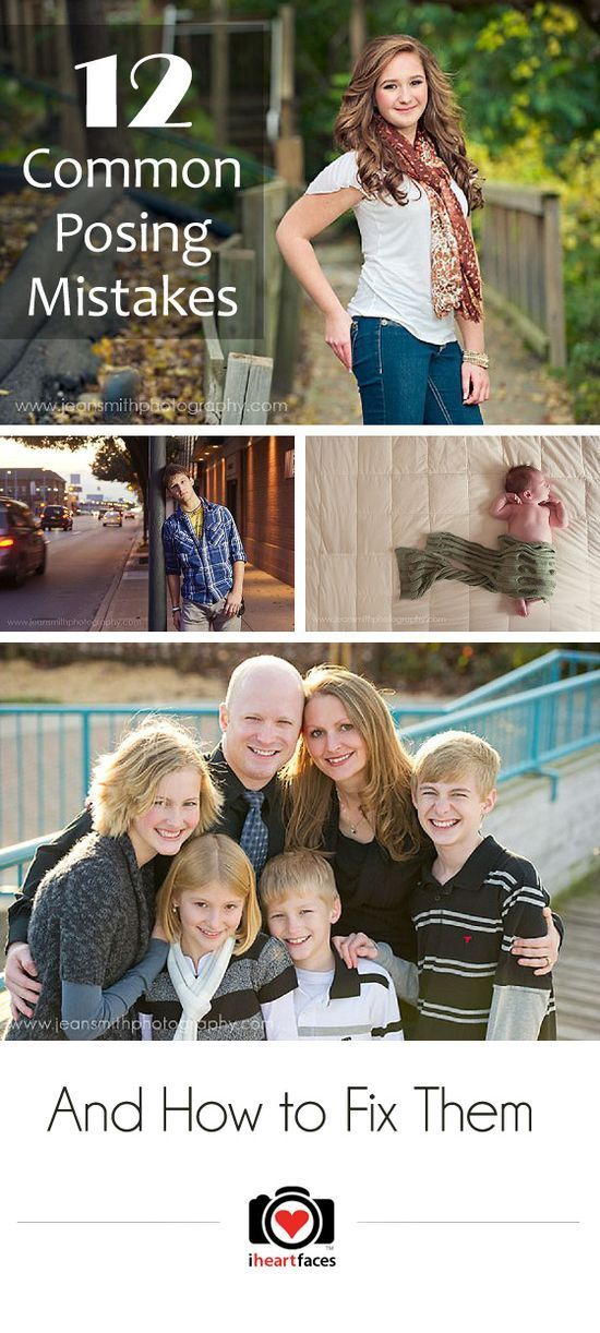 {12 Common Photography Posing Mistakes And How To Fix Them} great tips for females, guys, and family posing :)