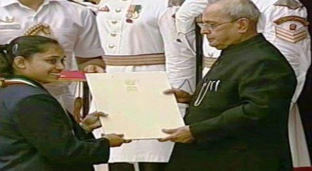 The President Gives Rajiv Gandhi Khel Ratna Award To Dipa Sindhu & Sakshi   National