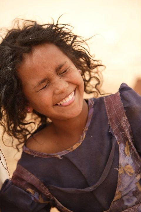 Africa: Tuareg berber girl in a refugee camp, Mauritania