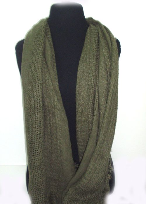 very soft single coloured scarf, differnt patterns of knitting.fashion woman accessories.
