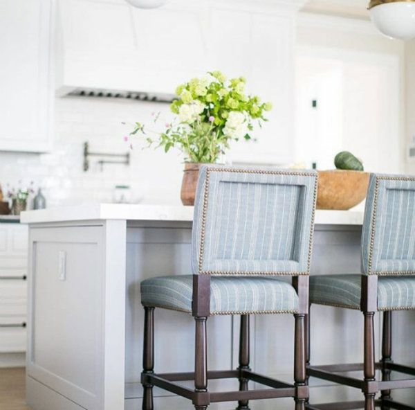 beautiful kitchen and barstools viaKelly Nutt Design