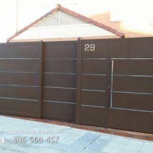 17 mejores ideas sobre puerta moderna en pinterest - Cancelas de madera ...