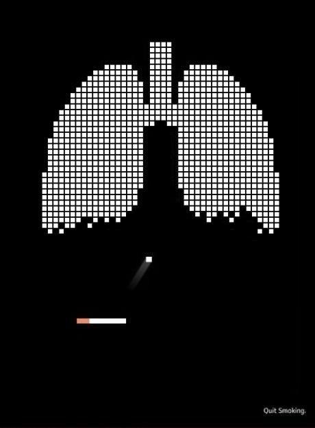 Pub anti-tabac casse brique