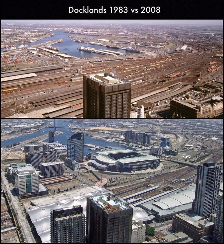 Docklands - then and now