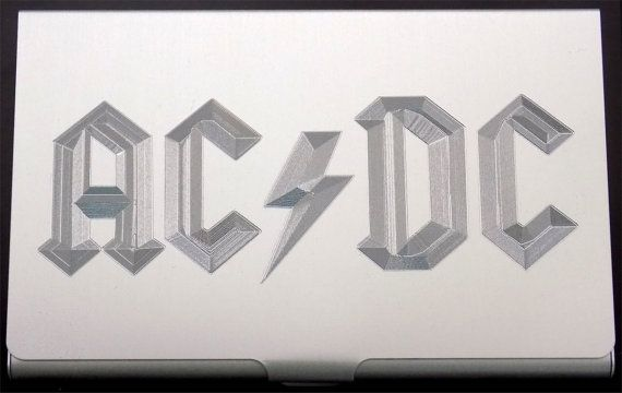 ACDC Music Band Engraved Business Credit ID Card Holder MC Biker Gift Bus-0150