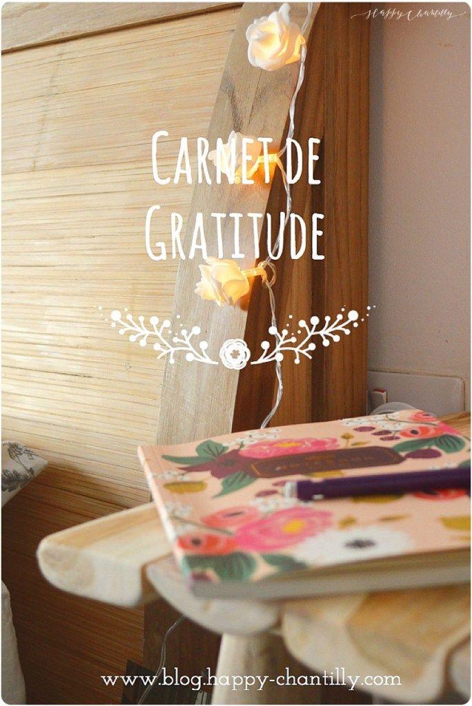 Tout d'abord, j'espère que vous avez passé de très belles fêtes de fin d'année avec vos proches et je vous souhaite à tous une très belle année 2016! J'avais envie de débuter l'année sur une note positive en vous parlant de mon carnet de gratitude. On avait déjà parlé ensemble de la gratitude sur le blog, aujourd'hui …