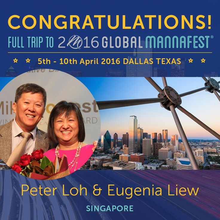 """We are thrilled to have Peter Loh & Eugenia Liew joining us at MannaFest!  Mannatech USA General Manager, Bob Adams says """"The success of an event is not what happens onstage or throughout the event, but the attitudes that you bring into it... you need to bring the sunshine to the picnic."""""""