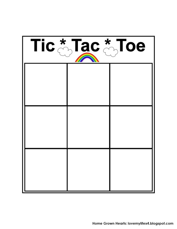 144 best Tic Tac Toe Game Printables images on Pinterest Tic tac - sample tic tac toe template