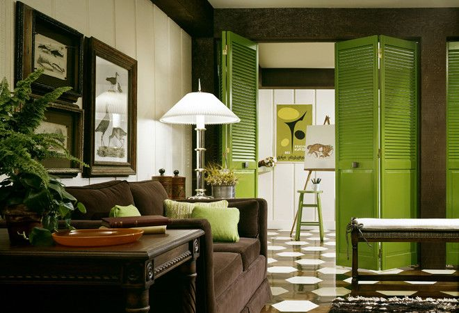 Зеленый в интерьере, фото