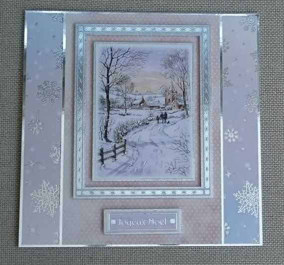 Handmade 8 x 8 Christmas Card by BavsCrafts on Etsy