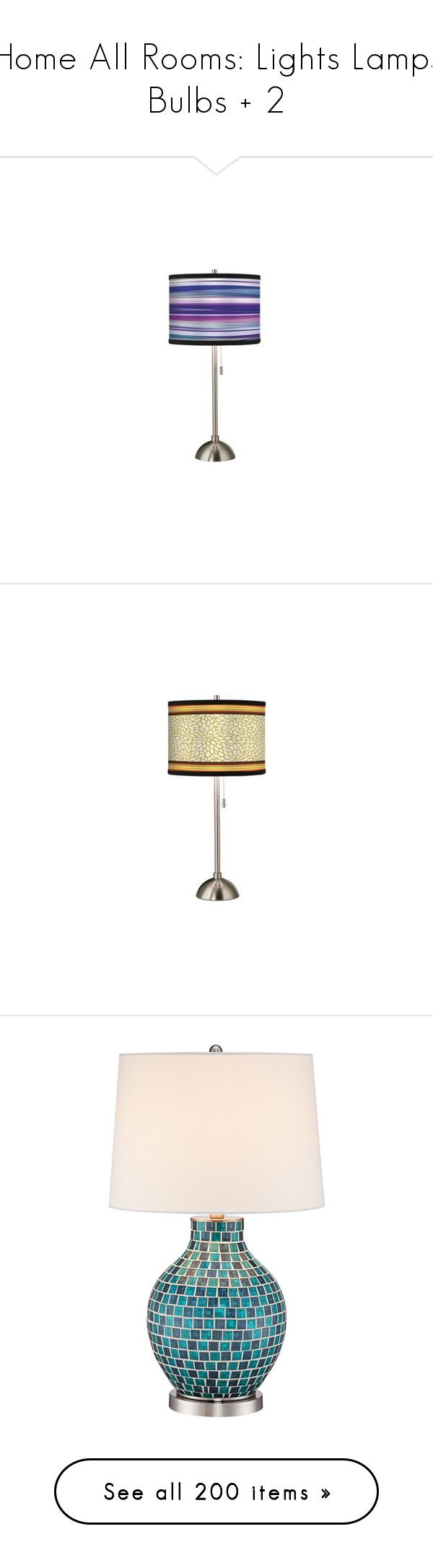 """""""Home All Rooms: Lights Lamps Bulbs + 2"""" by gwenie-darkpath ❤ liked on Polyvore featuring home, lighting, table lamps, neon color lights, purple table lamp, purple neon lights, neon shades, purple shades, colorful lamps and contemporary table lamps"""