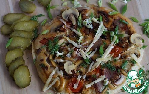 Блинчик с припеком по мотивам пиццы - кулинарный рецепт