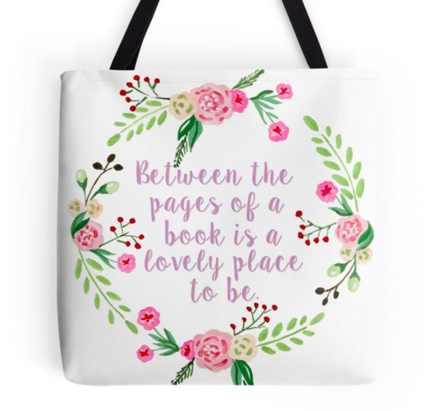 A cute tote bag to take to the library, store or flea market (for new books, of course).