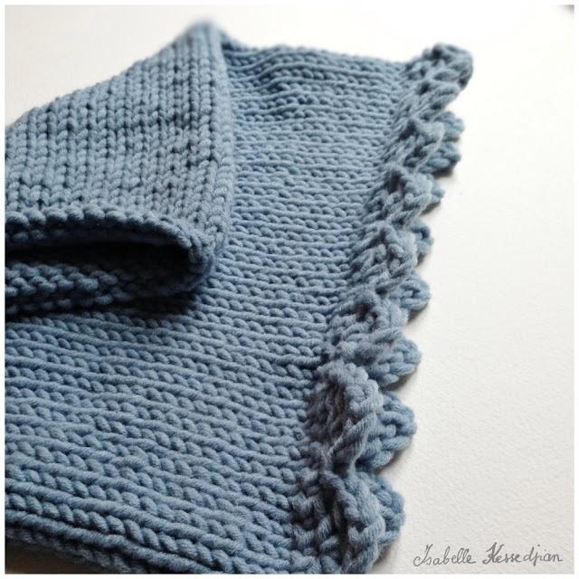 Isabelle Kessedjian: Snood au tricot : tuto.