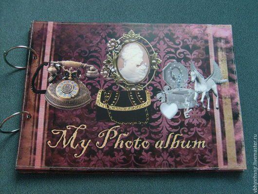 """Фотоальбомы ручной работы. Ярмарка Мастеров - ручная работа. Купить Фотоальбом """"Старый коттедж"""", винтаж,викторианский стиль. Handmade. Комбинированный"""