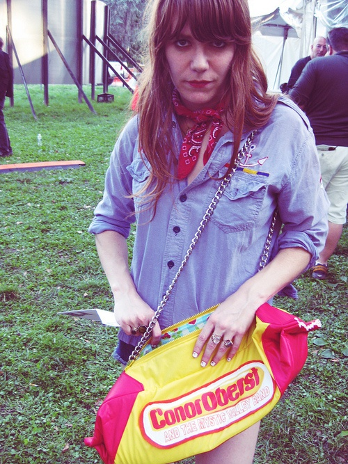 Jenny Lewis + Conor Oberst bag