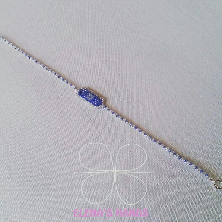 Braccialetto fatto a mano con perline toho e chiusura in argento #elenashands #handmade #braccialetti