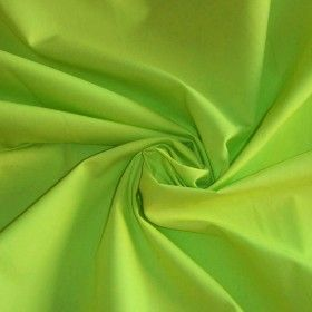 Katoenen Poplin Stof Lime