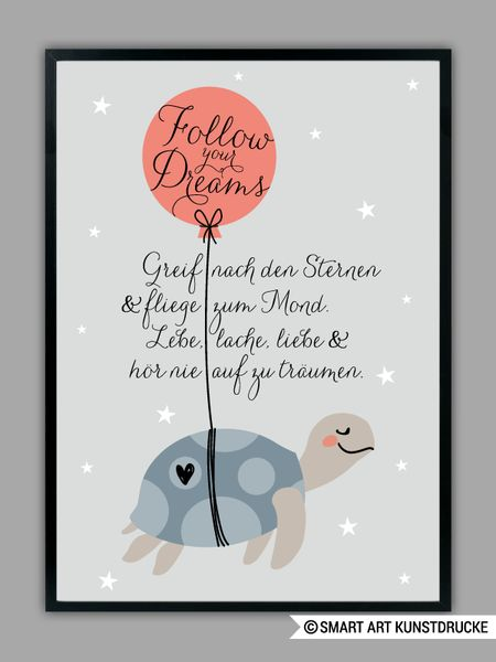 """Originaldruck – """"FLIEGE ZUM MOND"""" Kunstdruck, Geschenk – ein Designerstück von Smart-Art-Kunstdrucke bei DaWanda"""