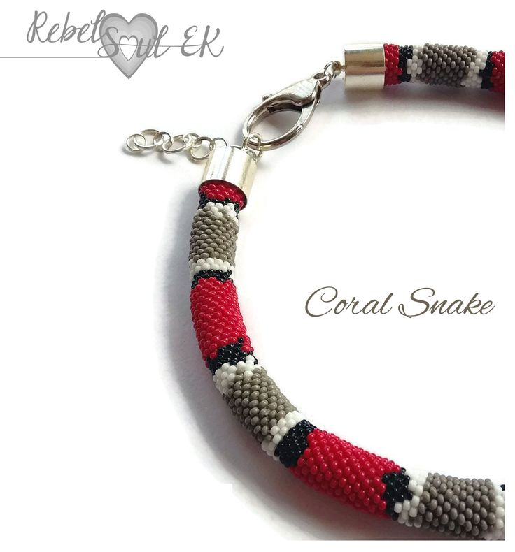 RebelSoulEK necklace coral snake red shoe animal print