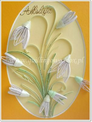 Quilled white flowers #quilling