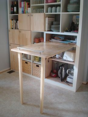 Ikea Hack Storage With Foldable Table Im Thinking About Doing This For
