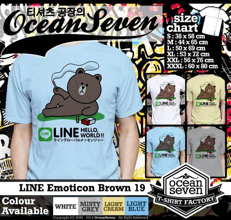 Kaos LINE Emoticon Brown 2