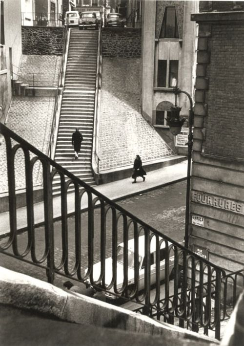 • PARIS RIVE GAUCHE • MONTMARTRE, 1964 • by ALFRED EISENSTAEDT (1898-1995) •