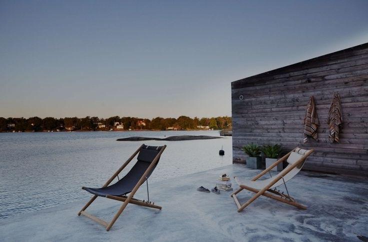 chaises pliables en bois H55 par Skargaarden
