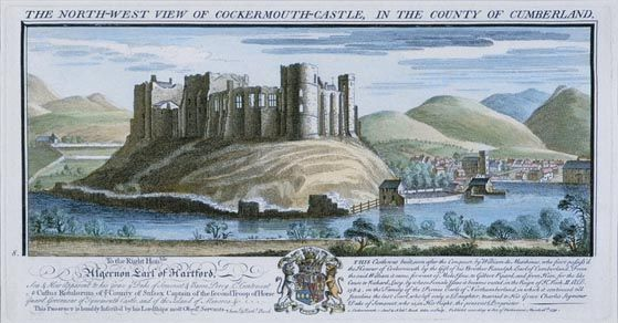 The North-West View of Cockermouth Castle, in the County of Cumberland