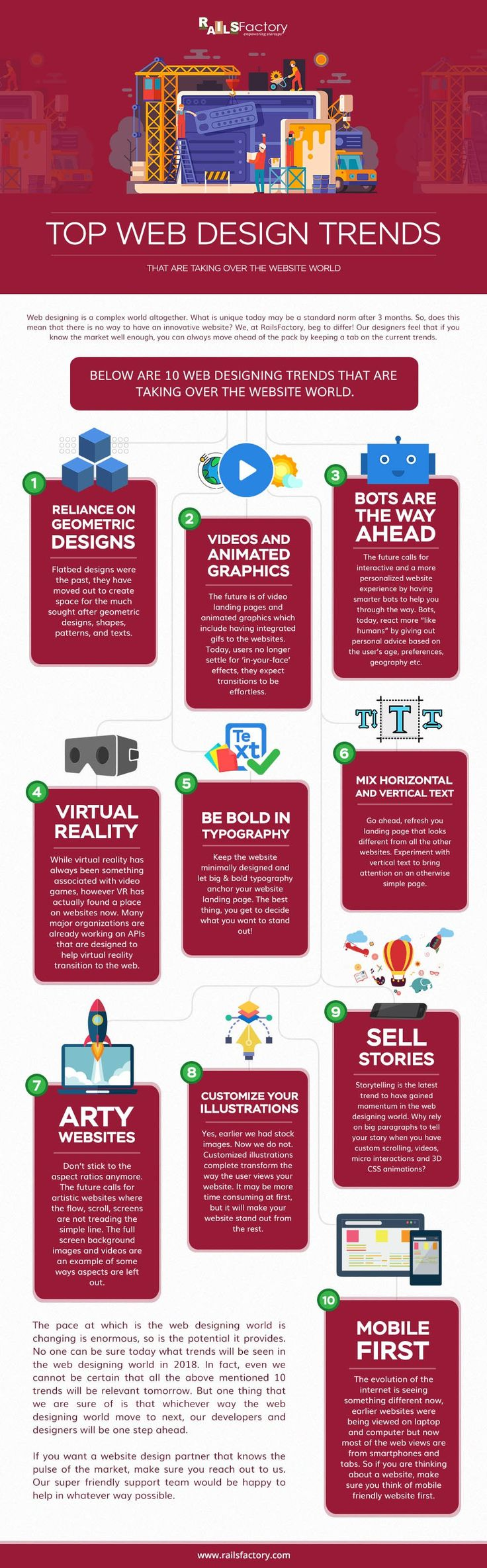 The Hottest Web Design Trends to Look Out For in 2018 - #infographic