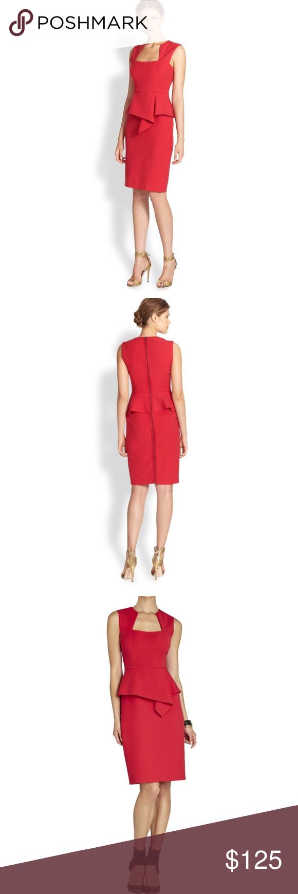 Bcbg Max Azria red peplum dress size 4 Beautiful dress for a beautiful occasion. Don't miss out on this beauty! Any questions please ask BCBGMaxAzria Dresses