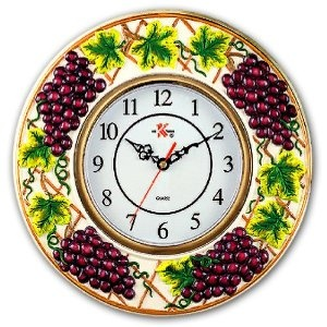 Wine Grapes Decorative Novelty Fruit Fruity Themed Wall