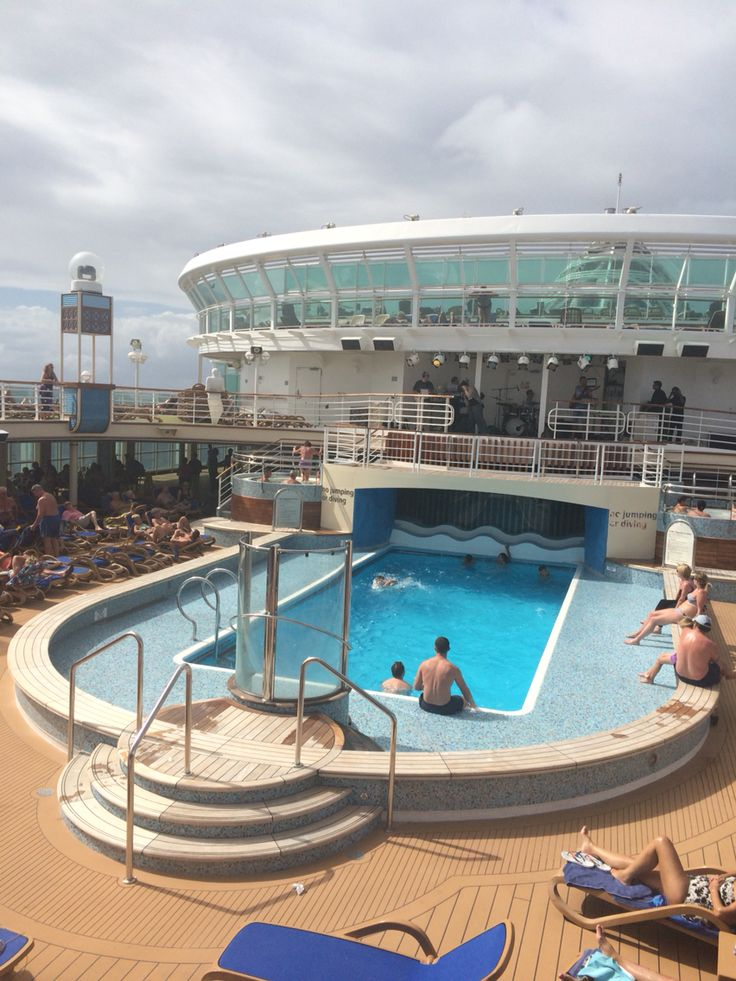 View of one of the pools onboard p&o Azura from breakers bar