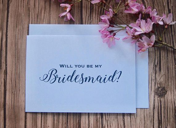 Custom made wedding proposal card for your wedding day! Will you be my bridesmaid card? Beautiful in white and blue combination. Everything is custom-able so don't hesitate and contact us and we will do our best so we can make your dreams come true! Wedding proposal card is made by BlissWeddingsAus