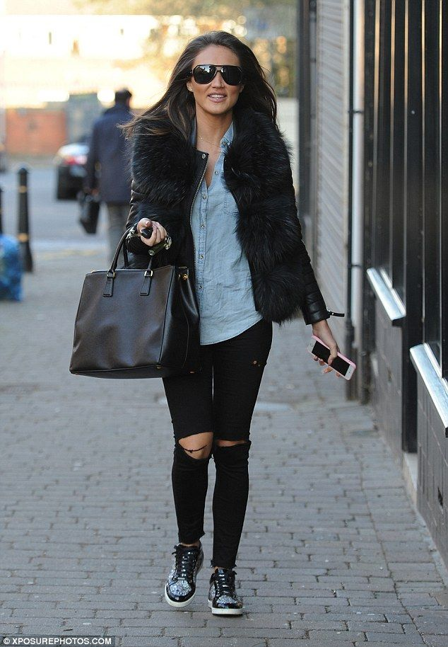 Hitting the shops: Megan McKenna looked in good spirits as she filmed scenes for TOWIE on Tuesday in the Essex boutiques
