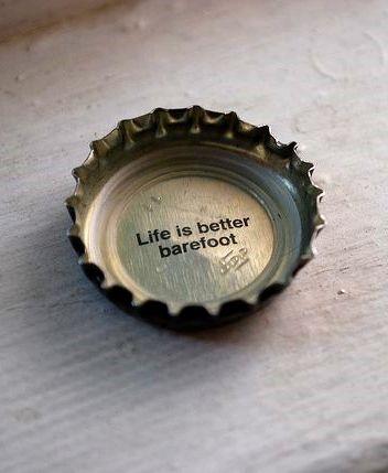 Life is better barefoot. Via Keys Life Marketing.