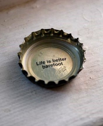 Life is better barefoot. Via Keys Life Marketing.