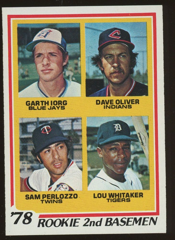 1978 Topps 704 Rookie 2nd Basemen W Lou Whitaker Detroit